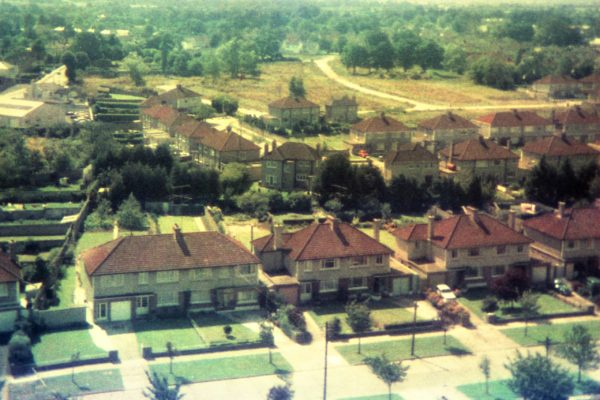 An aerial view of Templeville Road in 1972